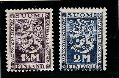 FINLAND #141-142 MNH 10th ANNIV. FINISH INDEPENDENCE
