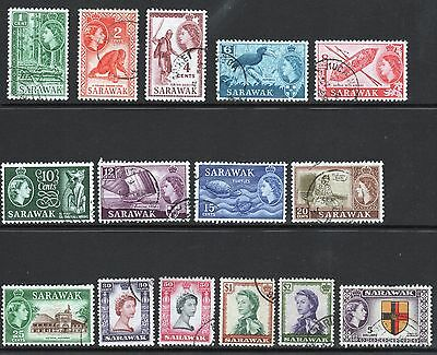 Malaysia set of definitive stamps from Sarawak.