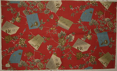 Beautiful Antique 19th C. French Chinoise Cotton Print Fabric (9093)