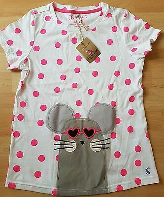 BNWT Girls Joules t-shirt age 11-12 years NEW