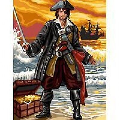 """The Pirate (Buccaneer) Tapestry/Needlepoint Canvas - Royal Paris - 14.75"""" x 19"""""""