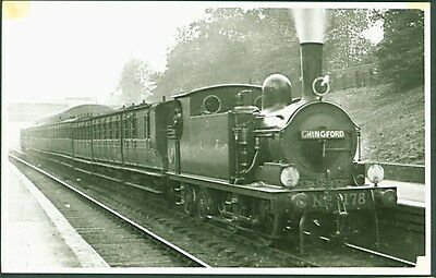 GER 0-4-4T No. 178 with 'Chingford' destination board. Photomatic Photograph