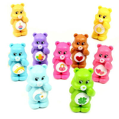 Care Bears Figures Toys 5cm Set of 9