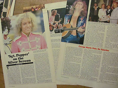 The Bee Gees, Three Page Vintage Clipping, Sgt. Pepper