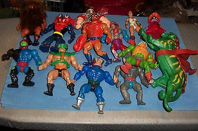 Vintage Motu He-Man 1980S Battle Cat And 12 Figures