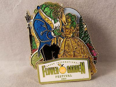 Disney Pin 2017 Epcot Flower and Garden Festival Beauty and The Beast Topiary
