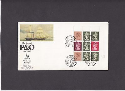 1987 P & O prestige booklet mixed value pane Royal Mail FDC House of Lords CDS