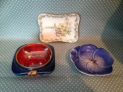 Lot of 3 vintage Royal Winton Grimwades pin dishes.