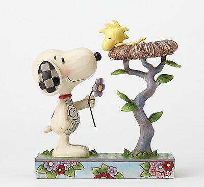 Peanuts Snoopy & Woodstock ( in Nest ) Figurine NEW by Jim Shore   27409