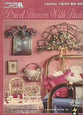 Dried Flowers With Flair Pattern Leaflet #1644 Wreaths Topiary Floral Designs