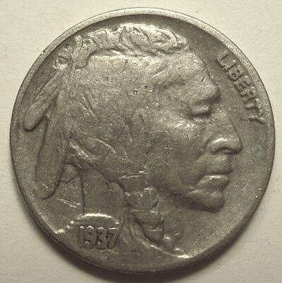 1937-D Buffalo Nickel Nice Looking Coin Readable Date