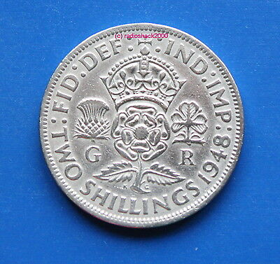 King George VI Florin/Two Shilling Coin 1948