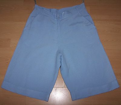 Vintage Mills Women High-Waisted Shorts Culottes 12/14 Uk, Immaculate