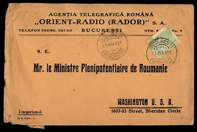 Bucharest Romania Orient radio advertising commercial cover to US 1920s