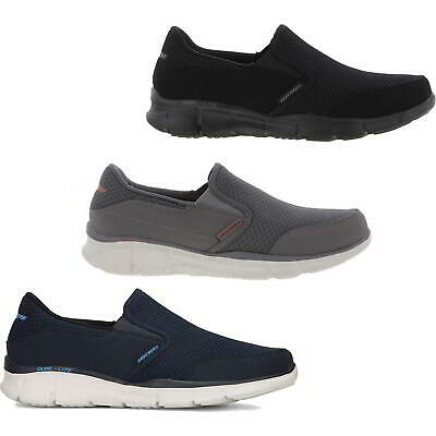 Skechers Equalizer Persistant Mens Memory Foam Slip On Trainers Size UK 8-12