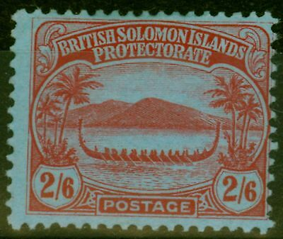 Solomon Islands 1910 2s6d Red-Blue SG16 Fine Mtd Mint