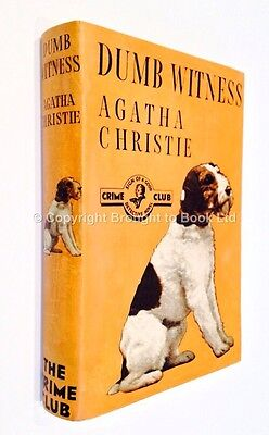 Dumb Witness - Agatha Christie First Edition Collins Crime Club 1937