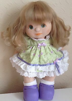 Mattel My Child Doll - Ash V Part Hair Peachy Euro Girl + Clothes And Shoes