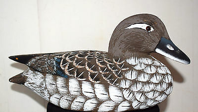 Estate Vintage Wood Hand Carved Duck Decoy=Made in Peoples Republic of China Wow