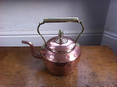 NICE DECORATIVE ANTIQUE COPPER & BRASS  KETTLE 8 inches