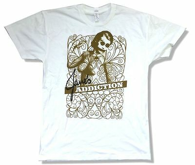 Jane's Addiction Lady Image NINJA Tour 2009 White T Shirt New Official Soft