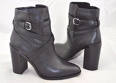 Vince Camuto 'Gravell' Women's Black Leather Strappy Ankle High Heel Boot Sz 10M