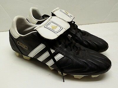 c734a9ffb Adidas TelStar black white leather soccer cleats mens sz 9 copa classic vtg  rare