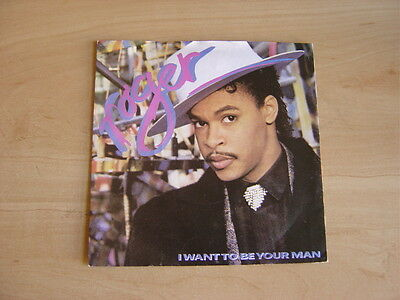 """Roger: I Want To Be Your Man  7"""": 1987 UK Release: Picture Sleeve"""
