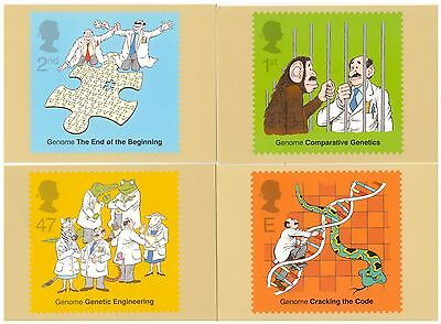 Great Britain 2003 Discovery Of Dna Set Of 5 Mint Phq Cards