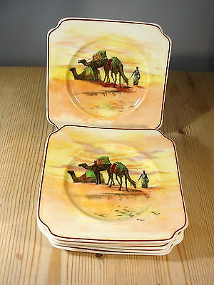 Royal Doulton Seriesware SIX Camels in Desert Plates H2944 Year 1928