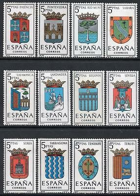SPAIN MNH 1965 SG1695/1703 Arms of Provincial Capitals