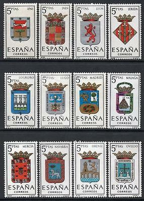 SPAIN MNH 1964 SG1612/23 Arms of Provincial Capitals