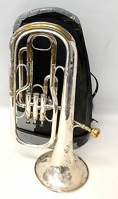 HAWKES & SON Excelsior Sonorous Class A Tenor Horn In Case With Mouthpiece - I09