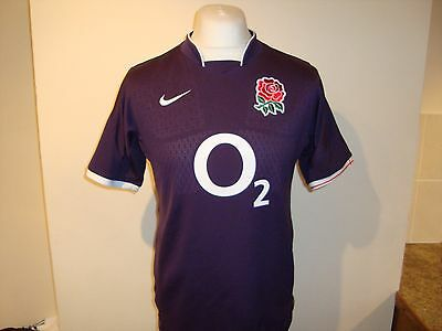 England Rugby Union Away Shirt Small Mens - Nike
