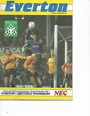 Everton V Sheffield Wednesday 28/10/1986 League Cup 3Rd Round  (5)