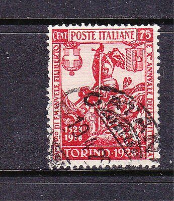 Italy postage stamp - 1928 75c. SG231 Cat £5.25 Used collection odd