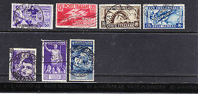 Italy postage stamps - 1934 - 37 7 x Used collection odds