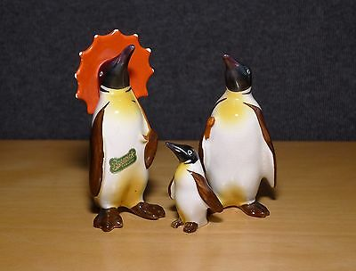 Vintage Beswick Pottery Penguin Bird Family, Perfect Condition with Label
