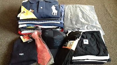 Large Bundle of Mens Clothes Size Large Mostly new ! 27 items