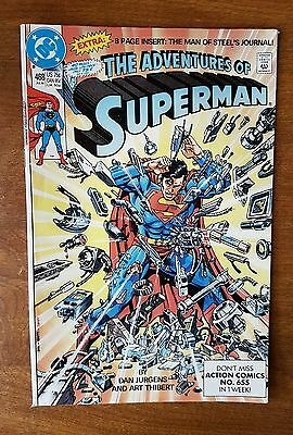 Adventures Of Superman #468 Dc July 1990 Very Fine