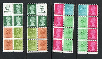 (A913)  Selection Of   Machin Booklet Panes   All Mnh