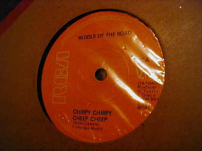 """Middle Of The Road, Chirpy Chirpy Cheep Cheep ,7"""" Vinyl"""