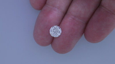 1.75 Carat Round Brilliant Loose Diamond - F Color SI2 Clarity Enhanced #D3460
