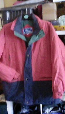 Mens Everest Red/blue/green Padded Winter Jacket Size L