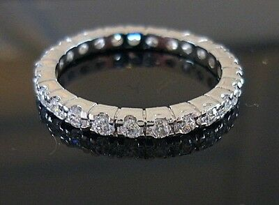 A**1 Ct Platinum Classic Eternity Band Wedding Anniversary  !!!****