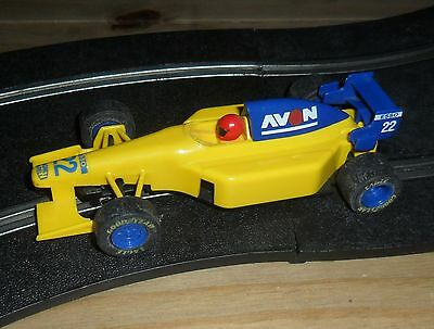 Scalextric vintage Avon Tyres Indy /  F1 / F3 car # 22 SUPERB, complete & fast