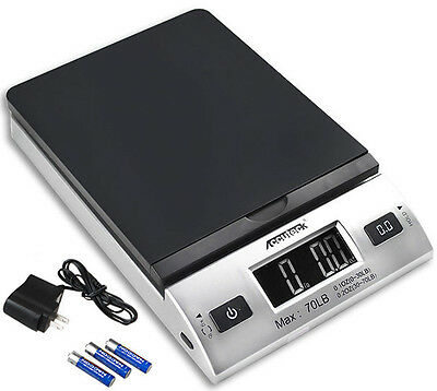 Accuteck S70lbx0.2oz All-In-One PT70 Digital Shipping Postal Scale W/AC Postage