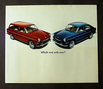 "VW ""Which one suits you?"" Squareback, Fastback original brochure, 1968"