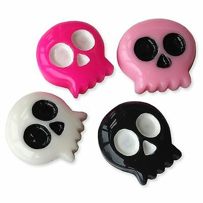 Mini Retro Pacman Skull Resin Flatback Cabochons Embellishments Charms Craft