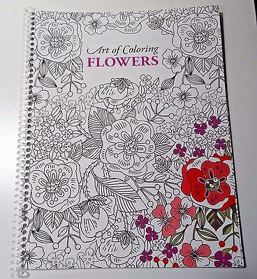 Leisure Arts Art of Coloring Flowers Spiral Coloring Book